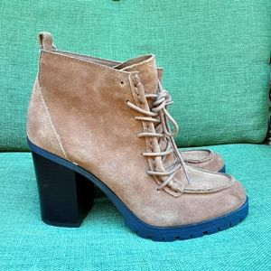 Sam Edelman Circus Denver suede lace up bootie.